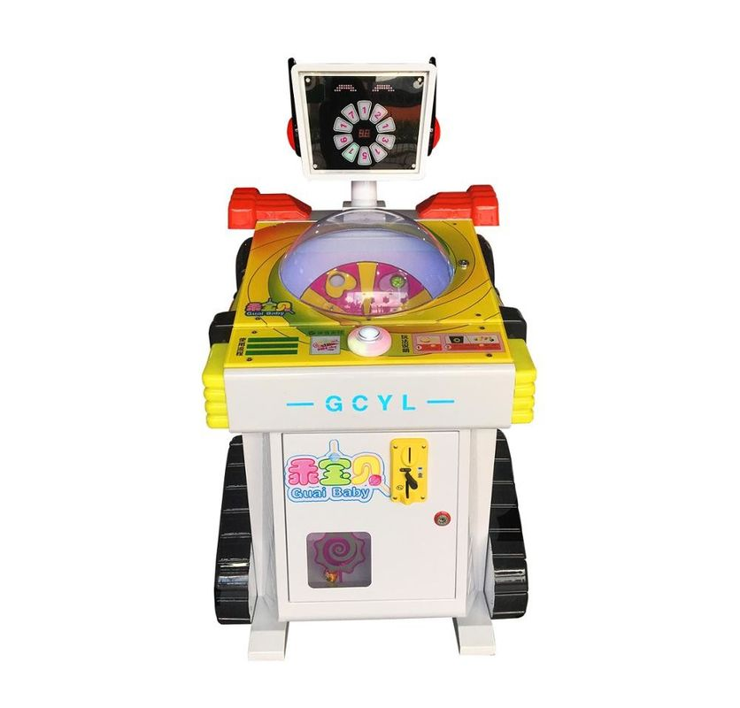 Arcade Capsule Toy Lollipop Vending Machine 80W One Year Warranty